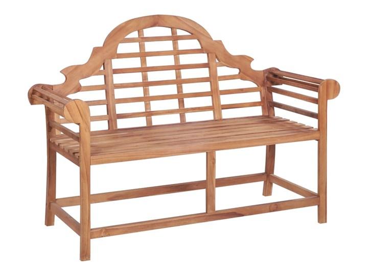 vidaXL Ławka ogrodowa, 136x63x102 cm, lite drewno tekowe