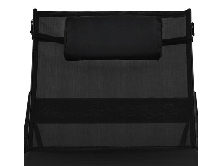 vidaXL Leżak ogrodowy z poduszką, polirattan, czarny Kategoria Leżaki ogrodowe Z regulowanym oparciem Styl Nowoczesny