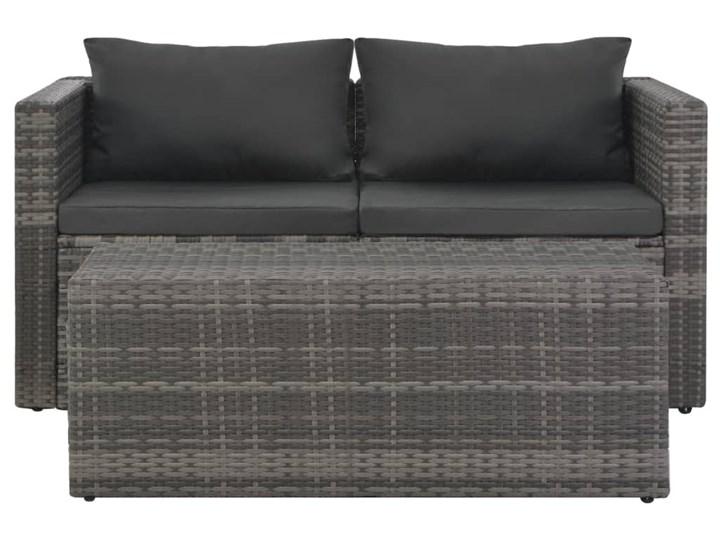 vidaXL Zestaw wypoczynkowy do ogrodu 6 cz. + poduszki, rattan PE szary Tworzywo sztuczne Stal Zestawy wypoczynkowe Kategoria Zestawy mebli ogrodowych