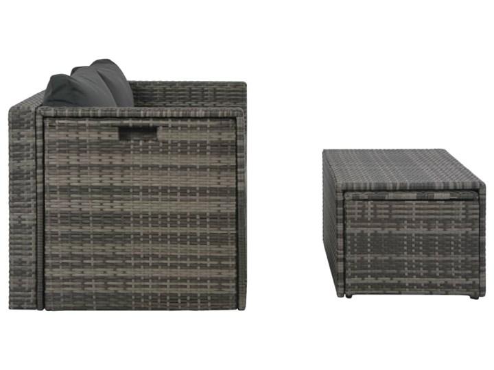 vidaXL Zestaw wypoczynkowy do ogrodu 6 cz. + poduszki, rattan PE szary Tworzywo sztuczne Zestawy wypoczynkowe Stal Zawartość zestawu Stolik
