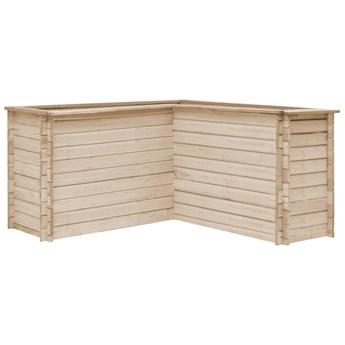 vidaXL Podwyższona donica ogrodowa, 150x150x80 cm, lite drewno sosnowe
