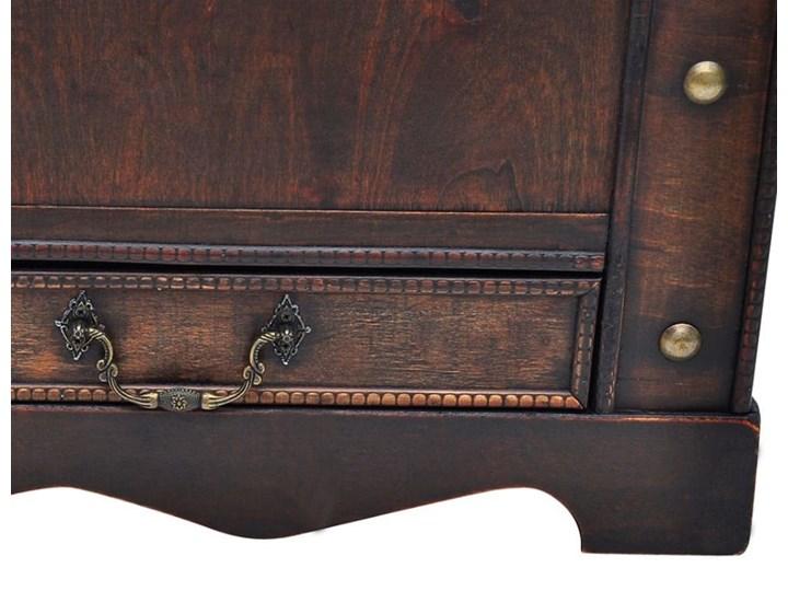 vidaXL Drewniany kufer, duży, brązowy Płyta meblowa Drewno Wysokość 42 cm Skrzynia Styl Vintage Kategoria Stoliki i ławy