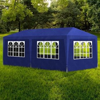 vidaXL Namiot imprezowy, 3 x 6 m, niebieski