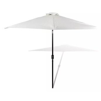 vidaXL Parasol ogrodowy, biały, 3 m