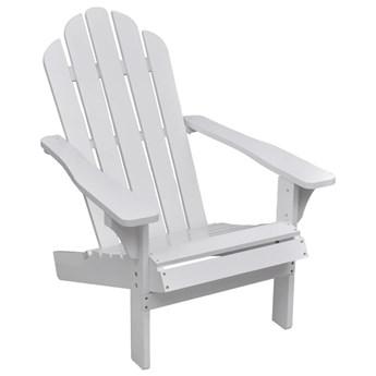 vidaXL Krzesło ogrodowe, drewniane, białe