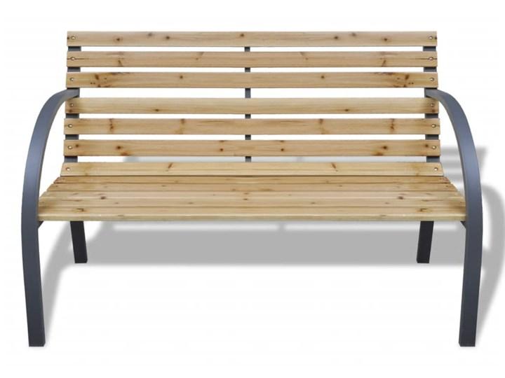 vidaXL Ławka ogrodowa, 120 cm, drewno i żelazo Z oparciem Stal Kategoria Ławki ogrodowe