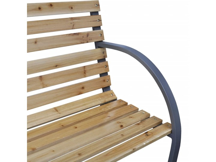 vidaXL Ławka ogrodowa, 120 cm, drewno i żelazo Stal Z oparciem Kolor Beżowy