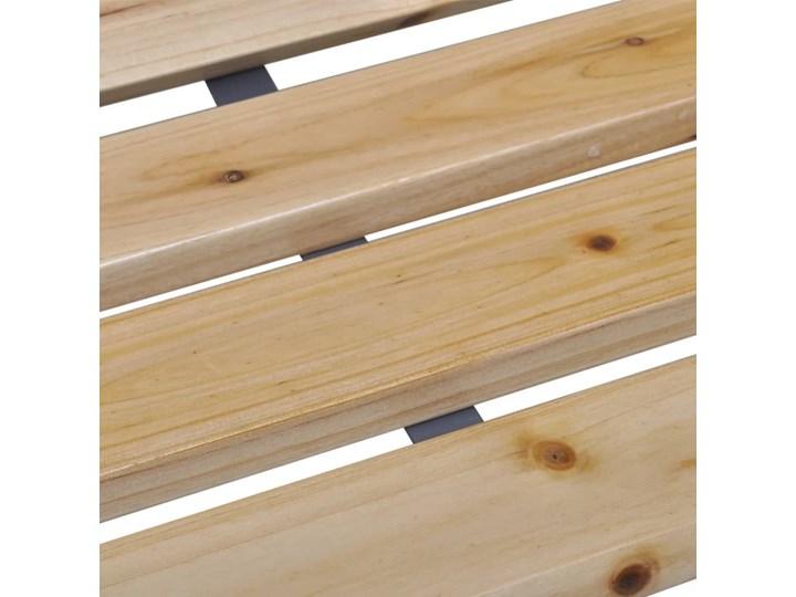 vidaXL Ławka ogrodowa, 120 cm, drewno i żelazo Stal Z oparciem Kategoria Ławki ogrodowe