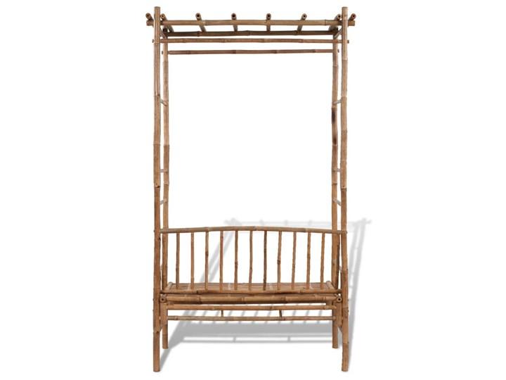 vidaXL Ławka ogrodowa z pergolą, 130 cm, bambusowa Kategoria Ławki ogrodowe Drewno Kolor Brązowy