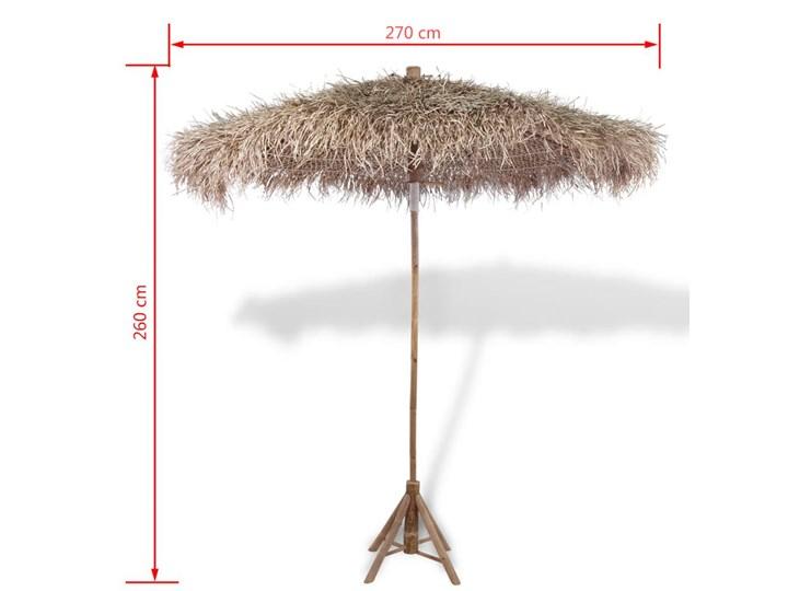 vidaXL Parasol ogrodowy z bambusa i bananowych liści, 270 cm Parasole Położenie nogi Centralne Kategoria Parasole ogrodowe