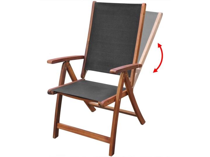 vidaXL Składane krzesła ogrodowe, 2 szt., drewno akacjowe i textilene