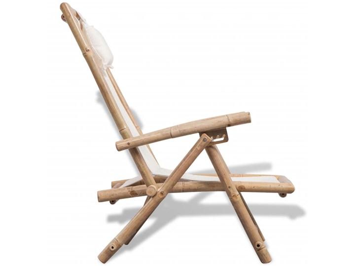 vidaXL Leżak tarasowy, bambus Drewno Z regulowanym oparciem Składane Kategoria Leżaki ogrodowe Kolor Beżowy