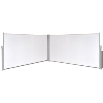 vidaXL Parawan rozsuwany, 160x600 cm, kremowy