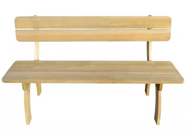 vidaXL Ławka ogrodowa, 150 cm, impregnowane drewno sosnowe Kategoria Ławki ogrodowe Z oparciem Styl Rustykalny