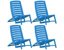 vidaXL Składane krzesła plażowe, 4 szt., plastikowe, niebieskie