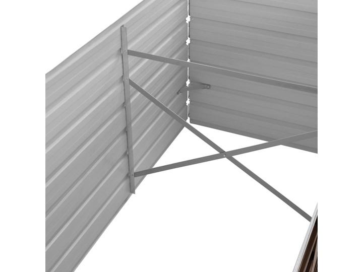 vidaXL Podwyższona donica, brązowa, 240x80x77 cm, galwanizowana stal Prostokątny Metal Donica balkonowa Donica ogrodowa Kolor Brązowy