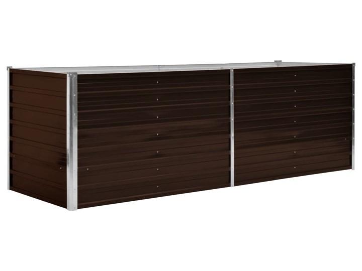 vidaXL Podwyższona donica, brązowa, 240x80x77 cm, galwanizowana stal Donica ogrodowa Donica balkonowa Prostokątny Kolor Brązowy Metal Kategoria Donice ogrodowe