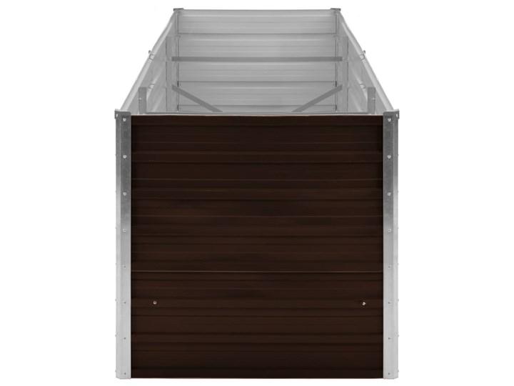 vidaXL Podwyższona donica, brązowa, 240x80x77 cm, galwanizowana stal Metal Donica balkonowa Donica ogrodowa Prostokątny Kolor Brązowy Kategoria Donice ogrodowe