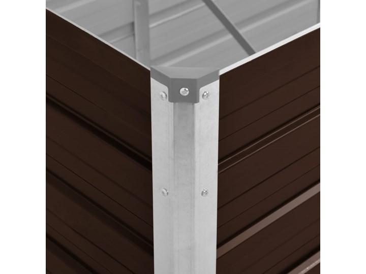 vidaXL Podwyższona donica, brązowa, 240x80x77 cm, galwanizowana stal Donica ogrodowa Donica balkonowa Metal Kolor Brązowy Prostokątny Kategoria Donice ogrodowe