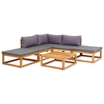 vidaXL 6-cz. zestaw mebli ogrodowych z poduszkami, drewno akacjowe