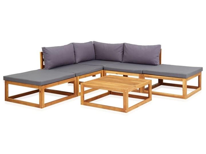 vidaXL 6-cz. zestaw mebli ogrodowych z poduszkami, drewno akacjowe Zestawy wypoczynkowe Zestawy kawowe Zestawy modułowe Zawartość zestawu Puf