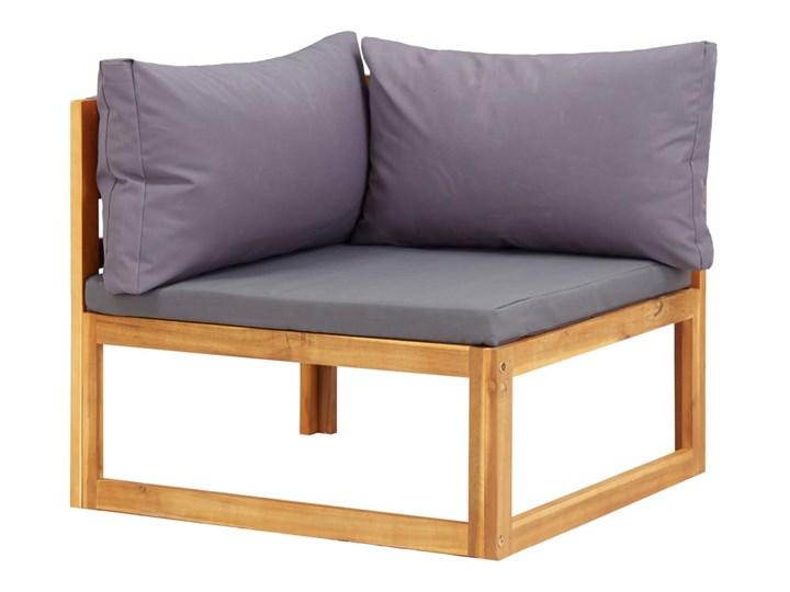 vidaXL 6-cz. zestaw mebli ogrodowych z poduszkami, drewno akacjowe Zestawy kawowe Zestawy modułowe Zestawy wypoczynkowe Kolor Szary Kolor Beżowy