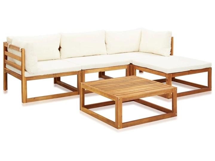 vidaXL 5-cz. zestaw mebli ogrodowych z poduszkami, drewno akacjowe Zestawy modułowe Zestawy wypoczynkowe Zawartość zestawu Narożnik Zestawy kawowe Kolor Beżowy