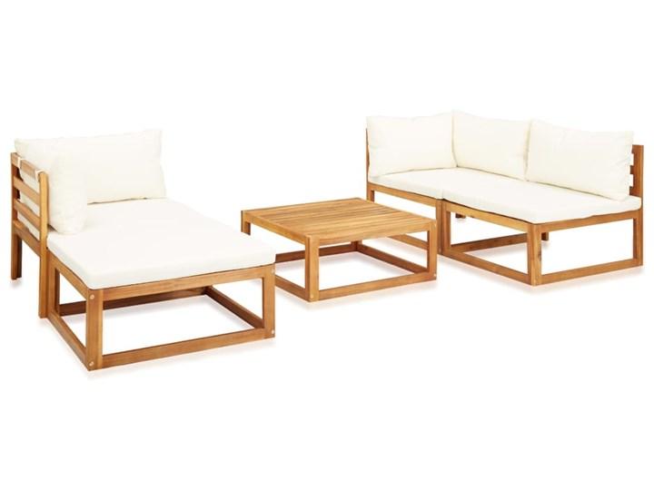 vidaXL 5-cz. zestaw mebli ogrodowych z poduszkami, drewno akacjowe Zawartość zestawu Sofa Zestawy kawowe Zestawy modułowe Zestawy wypoczynkowe Zawartość zestawu Puf