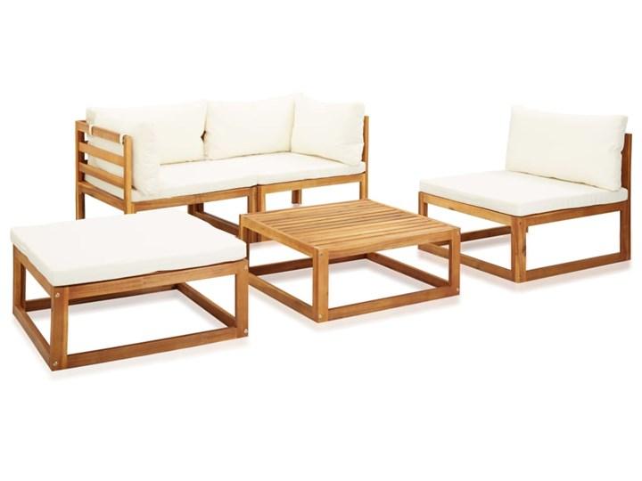 vidaXL 5-cz. zestaw mebli ogrodowych z poduszkami, drewno akacjowe Zestawy kawowe Zestawy modułowe Zawartość zestawu Puf Zestawy wypoczynkowe Zawartość zestawu Stolik