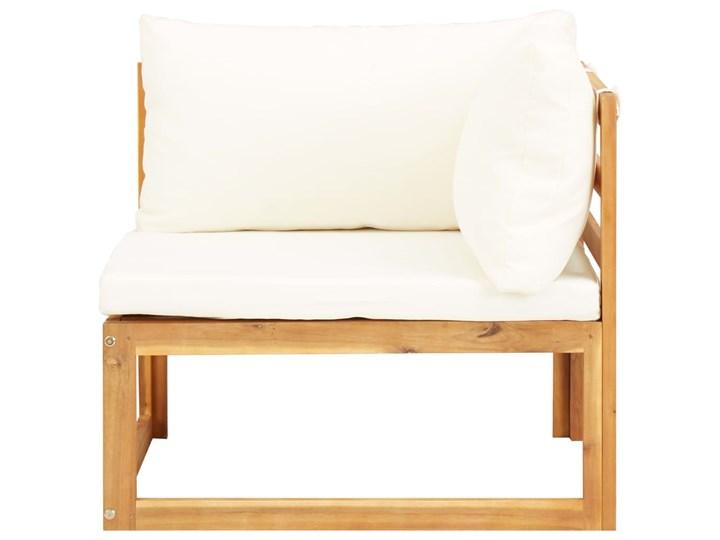 vidaXL 5-cz. zestaw mebli ogrodowych z poduszkami, drewno akacjowe Zestawy wypoczynkowe Zestawy kawowe Zestawy modułowe Kolor Brązowy