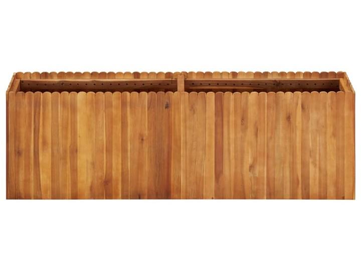vidaXL Podwyższona donica ogrodowa, 150x30x50 cm, lite drewno akacjowe Prostokątny Kategoria Donice ogrodowe Kolor Brązowy
