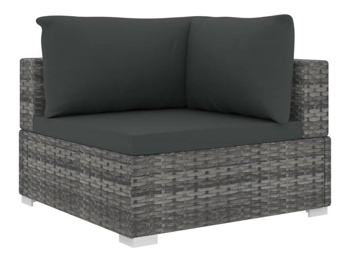 vidaXL 9-cz. zestaw wypoczynkowy do ogrodu, poduszki, rattan PE, szary Zestawy modułowe Zestawy wypoczynkowe Zestawy kawowe Stal Zawartość zestawu Stolik