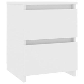 vidaXL Szafka nocna, biała, 30 x 30 x 40 cm, płyta wiórowa