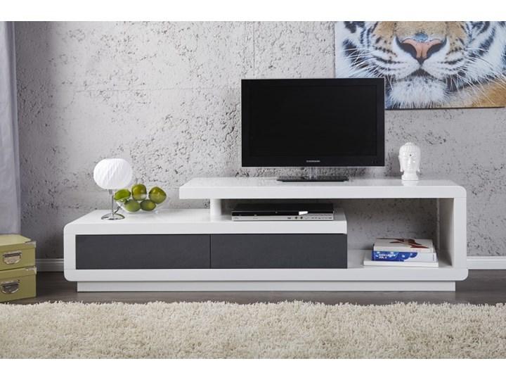 Komoda Stolik Pod Telewizor Biały Tv Lowboard Spring