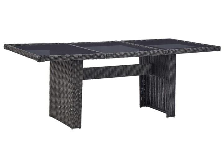 vidaXL 9-częściowy zestaw mebli ogrodowych, polirattan, czarny Stoły z krzesłami Tworzywo sztuczne Technorattan Zawartość zestawu Krzesła