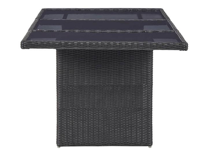 vidaXL 9-częściowy zestaw mebli ogrodowych, polirattan, czarny Stoły z krzesłami Technorattan Kategoria Zestawy mebli ogrodowych