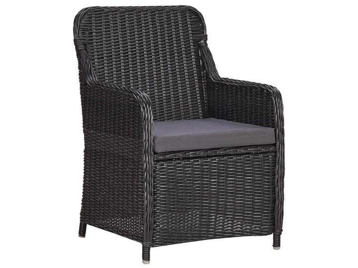 vidaXL 9-częściowy zestaw mebli ogrodowych, polirattan, czarny Stoły z krzesłami Technorattan Zawartość zestawu Stół