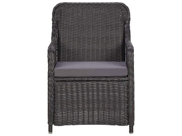 vidaXL 9-częściowy zestaw mebli ogrodowych, polirattan, czarny Stoły z krzesłami Technorattan Zawartość zestawu Leżak