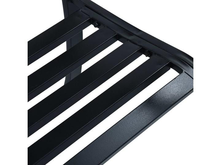 vidaXL Ławka ogrodowa, 125 cm, czarna, stalowa Z oparciem Tworzywo sztuczne Kategoria Ławki ogrodowe Kolor Czarny
