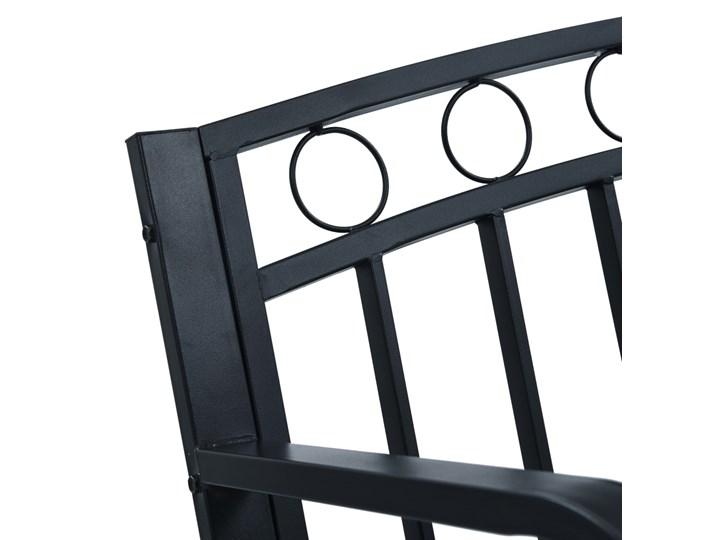 vidaXL Ławka ogrodowa, 125 cm, czarna, stalowa Z oparciem Kolor Czarny