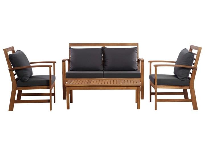 vidaXL 4-cz. zestaw wypoczynkowy do ogrodu, poduszki, drewno akacjowe Zestawy wypoczynkowe Stoły z krzesłami Styl Rustykalny