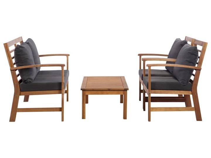 vidaXL 4-cz. zestaw wypoczynkowy do ogrodu, poduszki, drewno akacjowe Zestawy wypoczynkowe Stoły z krzesłami Kolor Szary Kategoria Zestawy mebli ogrodowych