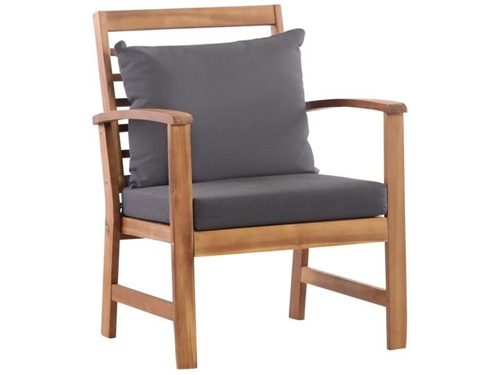 vidaXL 4-cz. zestaw wypoczynkowy do ogrodu, poduszki, drewno akacjowe Stoły z krzesłami Zestawy wypoczynkowe Zawartość zestawu Krzesła