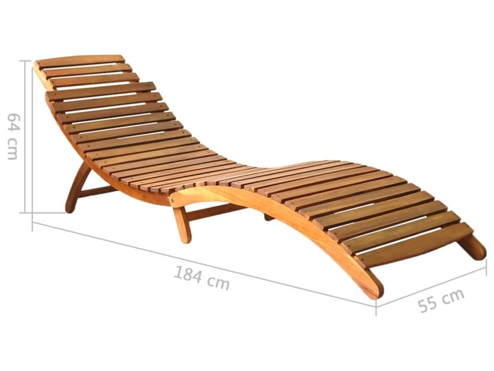 vidaXL Leżak, lite drewno akacjowe, brązowy Leżanki Styl Rustykalny Kategoria Leżaki ogrodowe