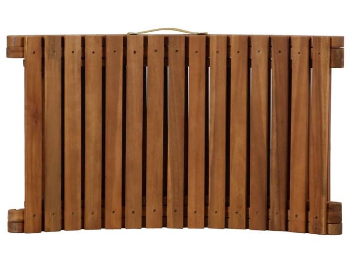 vidaXL Leżak z poduszką, lite drewno akacjowe, kremowy Kolor Beżowy Kategoria Leżaki ogrodowe