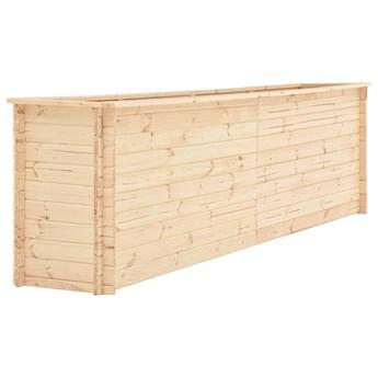 vidaXL Podwyższona donica, 300x50x80,5 cm, drewno sosnowe, 19 mm