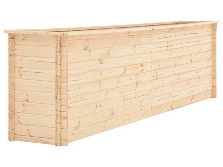 vidaXL Podwyższona donica, 300x50x80,5 cm, drewno sosnowe, 19 mm Prostokątny Donica ogrodowa Donica balkonowa Kategoria Donice ogrodowe