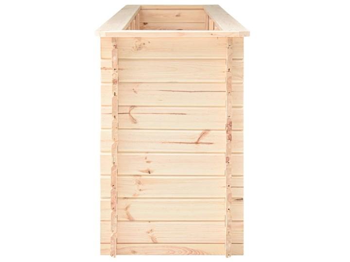 vidaXL Podwyższona donica, 300x50x80,5 cm, drewno sosnowe, 19 mm Prostokątny Donica balkonowa Donica ogrodowa Kategoria Donice ogrodowe
