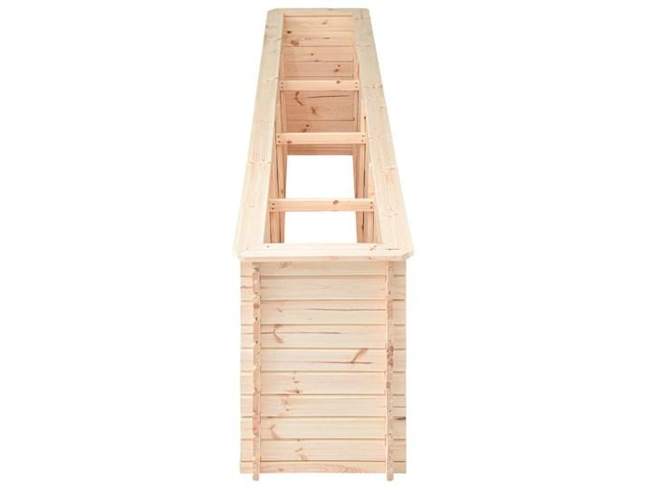 vidaXL Podwyższona donica, 300x50x80,5 cm, drewno sosnowe, 19 mm Prostokątny Donica ogrodowa Kategoria Donice ogrodowe Donica balkonowa Kolor Beżowy