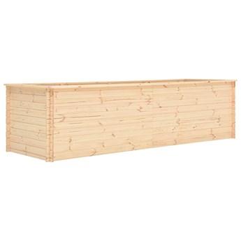 vidaXL Podwyższona donica, 300x100x80,5 cm, drewno sosnowe, 19 mm